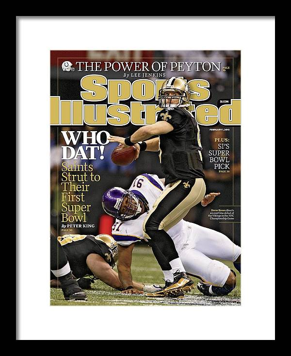 Playoffs Framed Print featuring the photograph New Orleans Saints Vs Minnesota Vikings, 2010 Nfc Sports Illustrated Cover by Sports Illustrated