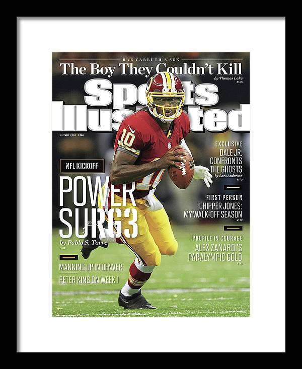 Magazine Cover Framed Print featuring the photograph New Orleans Saints Vs Washington Redskins Sports Illustrated Cover by Sports Illustrated