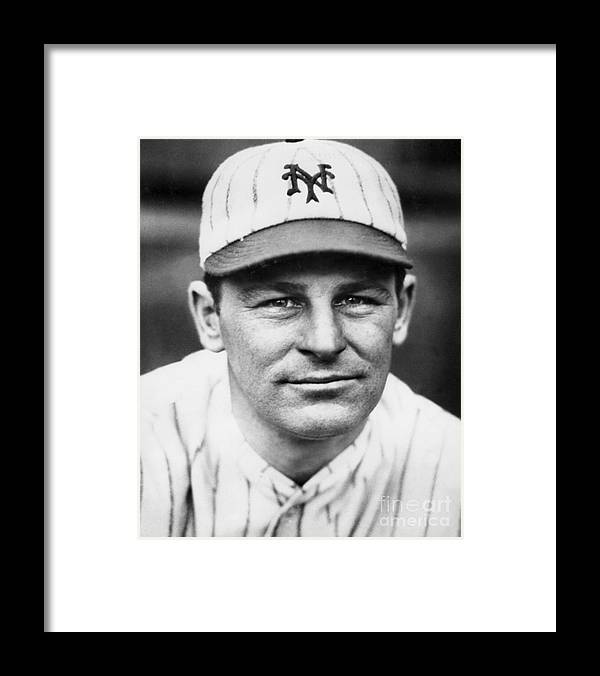 People Framed Print featuring the photograph New York Giants by National Baseball Hall Of Fame Library