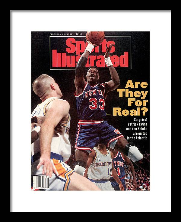 Magazine Cover Framed Print featuring the photograph New York Knicks Patrick Ewing... Sports Illustrated Cover by Sports Illustrated