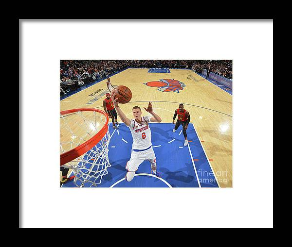 Nba Pro Basketball Framed Print featuring the photograph New York Knicks V Atlanta Hawks by Jesse D. Garrabrant