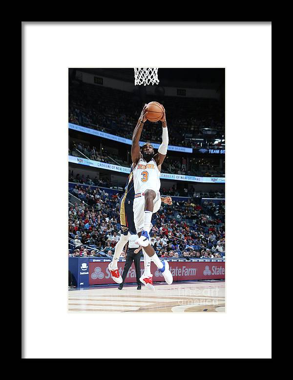 Tim Hardaway Jr. Framed Print featuring the photograph New York Knicks V New Orleans Pelicans by Layne Murdoch Jr.