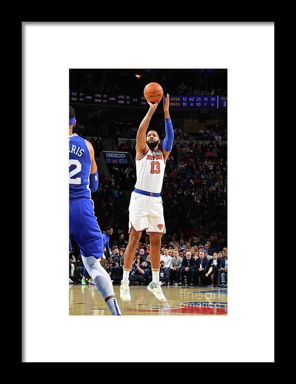 Nba Pro Basketball Framed Print featuring the photograph New York Knicks V Philadelphia 76ers by Jesse D. Garrabrant