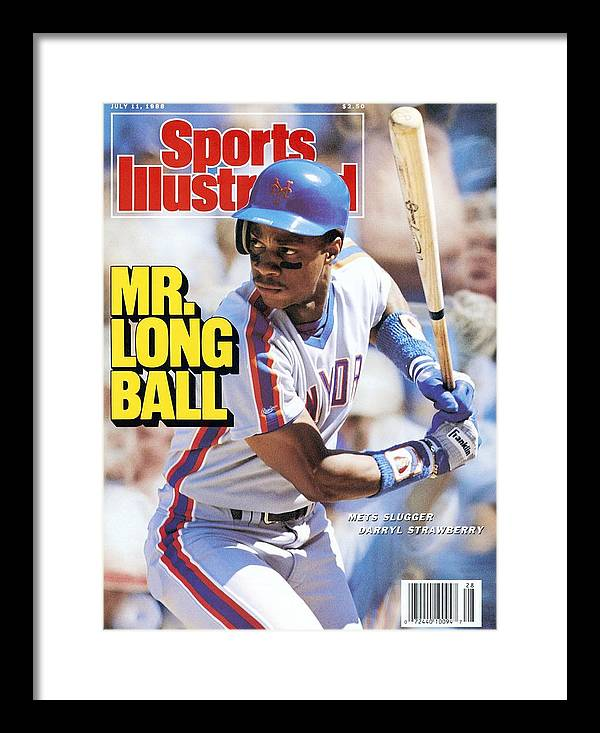 Magazine Cover Framed Print featuring the photograph New York Mets Darryl Strawberry... Sports Illustrated Cover by Sports Illustrated