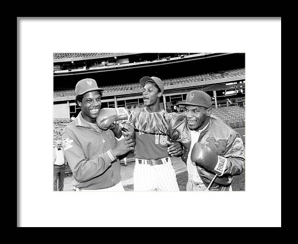 Event Framed Print featuring the photograph New York Mets Dwight Gooden Laughs Off by New York Daily News Archive