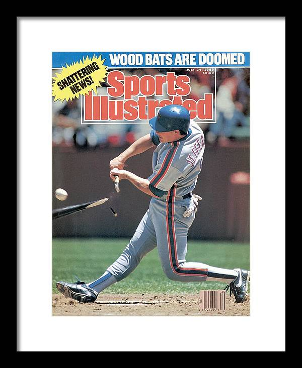 Candlestick Park Framed Print featuring the photograph New York Mets Gregg Jeffries... Sports Illustrated Cover by Sports Illustrated