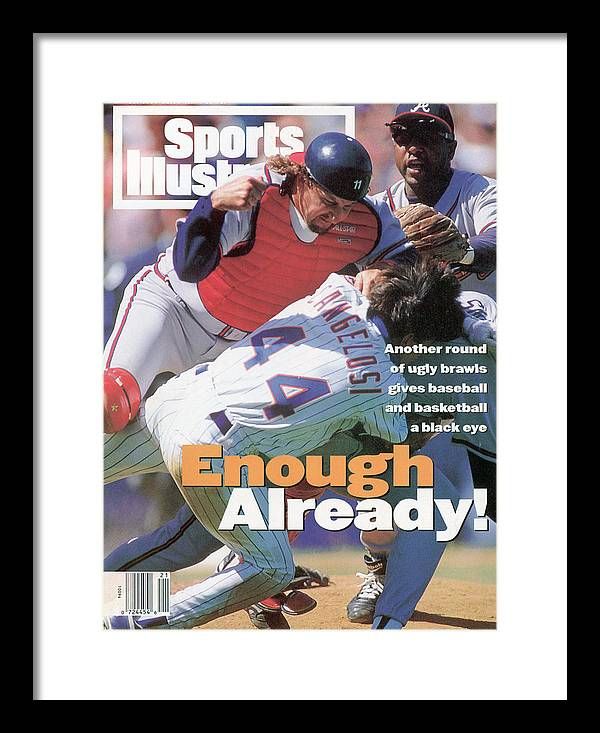 Magazine Cover Framed Print featuring the photograph New York Mets John Cangelosi... Sports Illustrated Cover by Sports Illustrated