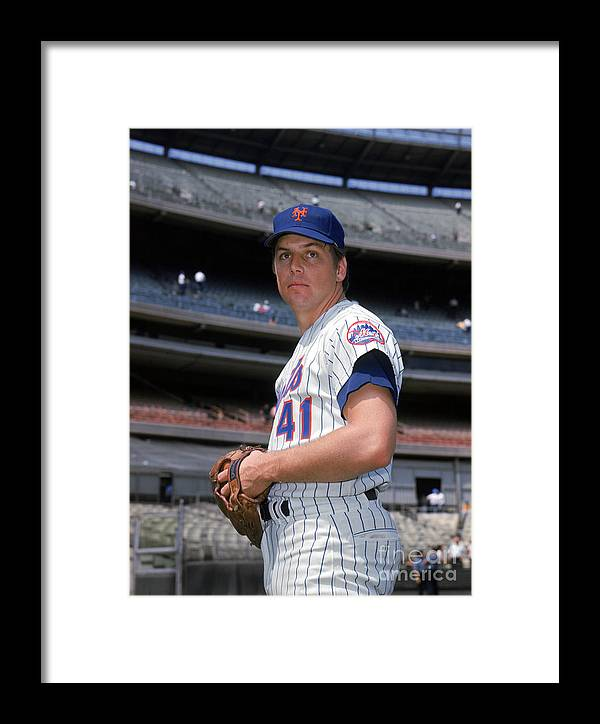 Tom Seaver Framed Print featuring the photograph New York Mets by Louis Requena