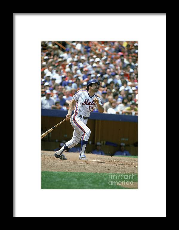 1980-1989 Framed Print featuring the photograph New York Mets by Rich Pilling