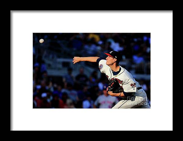 Atlanta Framed Print featuring the photograph New York Mets V Atlanta Braves - Game by Daniel Shirey