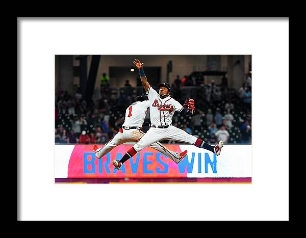 Atlanta Framed Print featuring the photograph New York Mets V Atlanta Braves by John Amis