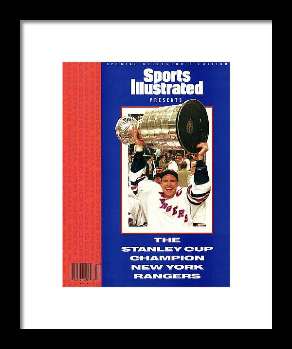 National Hockey League Framed Print featuring the photograph New York Rangers Mark Messier, 1994 Nhl Stanley Cup Finals Sports Illustrated Cover by Sports Illustrated