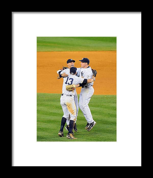 American League Baseball Framed Print featuring the photograph New York Yankees Alex Rodriguez, Derek by New York Daily News Archive