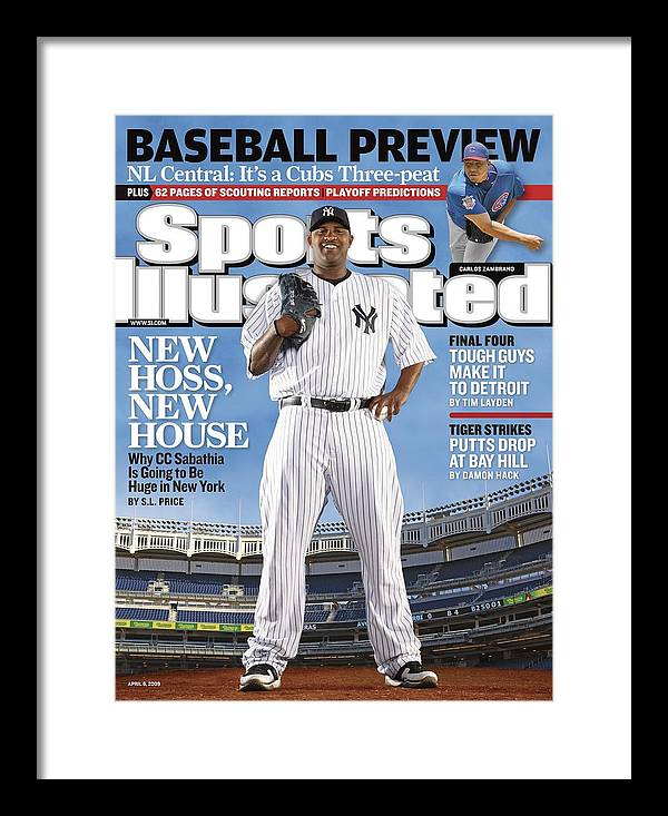 Magazine Cover Framed Print featuring the photograph New York Yankees Cc Sabathia Sports Illustrated Cover by Sports Illustrated