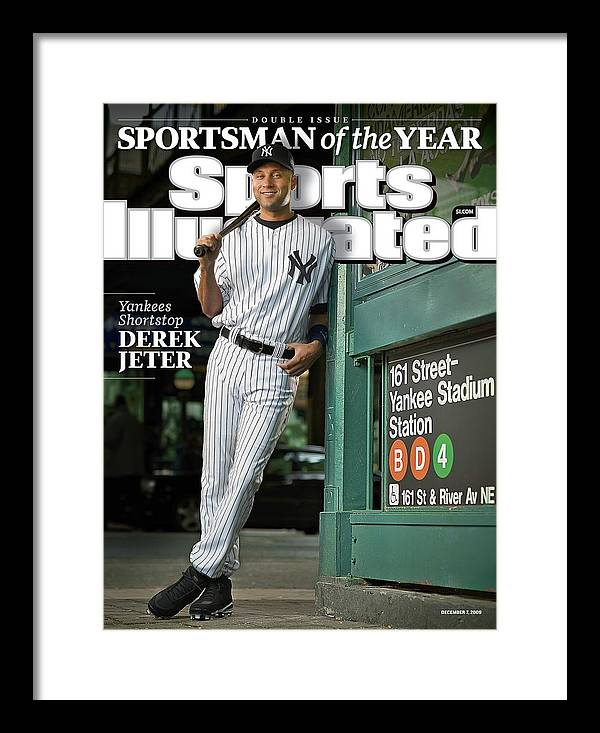 Magazine Cover Framed Print featuring the photograph New York Yankees Derek Jeter, 2009 Sportsman Of The Year Sports Illustrated Cover by Sports Illustrated