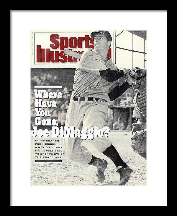 St. Louis Cardinals Framed Print featuring the photograph New York Yankees Joe Dimaggio... Sports Illustrated Cover by Sports Illustrated
