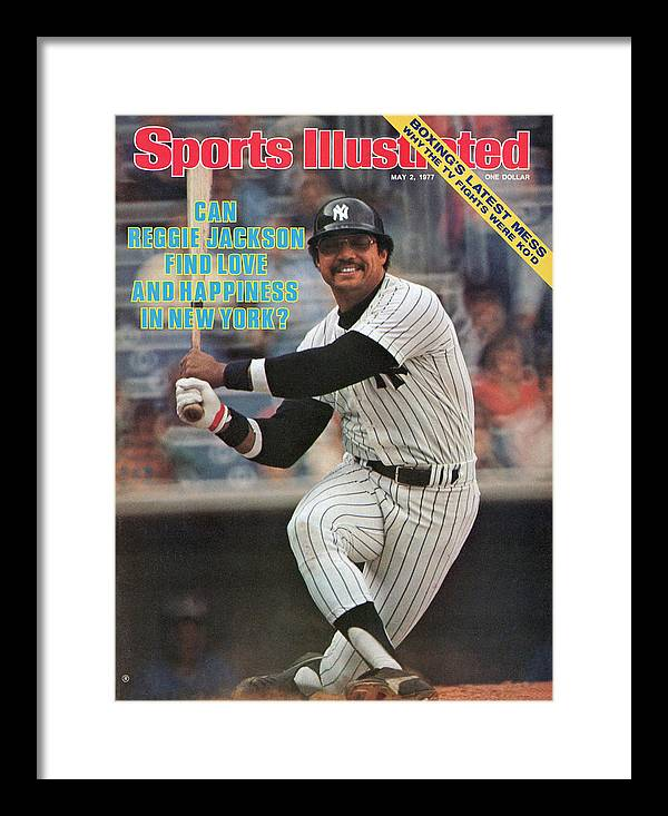 Magazine Cover Framed Print featuring the photograph New York Yankees Reggie Jackson... Sports Illustrated Cover by Sports Illustrated