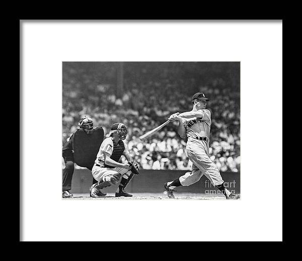 American League Baseball Framed Print featuring the photograph New York Yankees by The Stanley Weston Archive