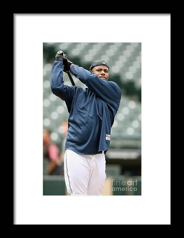 People Framed Print featuring the photograph New York Yankees Vs Seattle Mariners by Otto Greule Jr