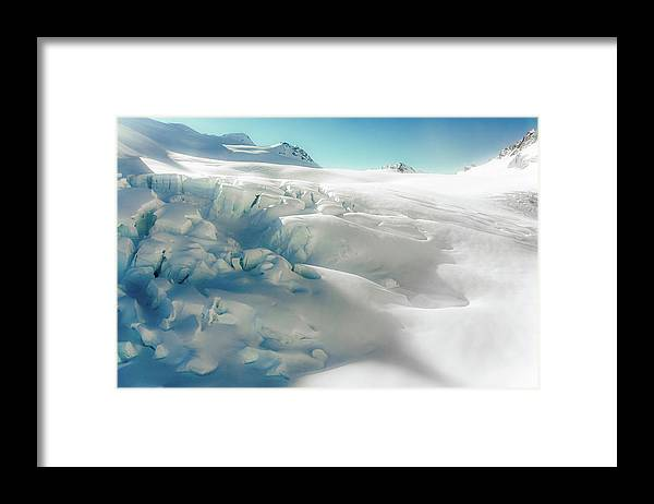 Cold Temperature Framed Print featuring the photograph New Zealand - Dreamy Glacier Landscape by Agnieszka Bachfischer