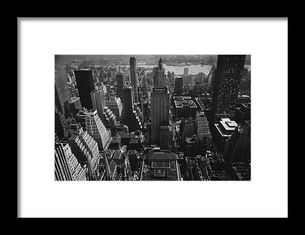 Architectural Feature Framed Print featuring the photograph Newsweek Building by William Lovelace