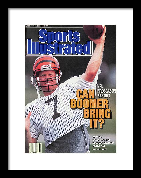 Magazine Cover Framed Print featuring the photograph Nfl Preseason Report Can Boomer Bring It Sports Illustrated Cover by Sports Illustrated
