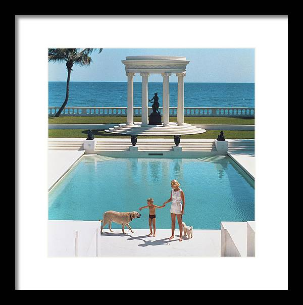 Pets Framed Print featuring the photograph Nice Pool by Slim Aarons