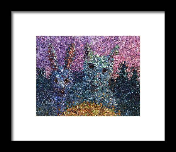 Night Framed Print featuring the painting Night Offering by James W Johnson