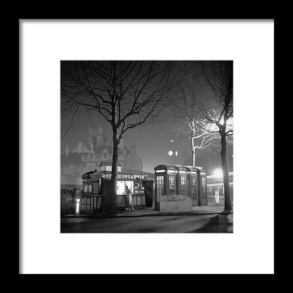 Clock Tower Framed Print featuring the photograph Night-time Coffee by Charles Hewitt