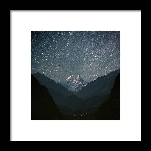 Himalayas Framed Print featuring the photograph Nilgiri South 6839 M by Anton Jankovoy