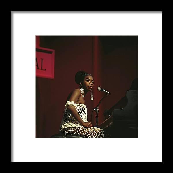 Nina Simone Framed Print featuring the photograph Nina Simone by David Redfern
