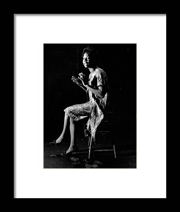 Singer Framed Print featuring the photograph Nina Simone by Herb Snitzer