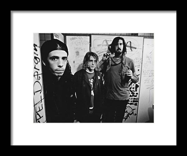 People Framed Print featuring the photograph Nirvana Backstage by Paul Bergen
