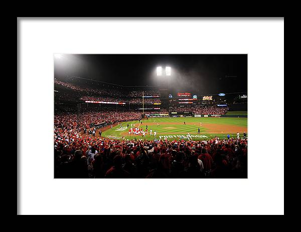 St. Louis Cardinals Framed Print featuring the photograph Nlcs - San Francisco Giants V St Louis by Michael Thomas