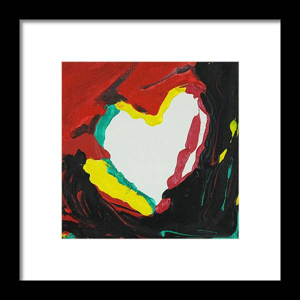 Love Framed Print featuring the painting No Love by Sonye Locksmith