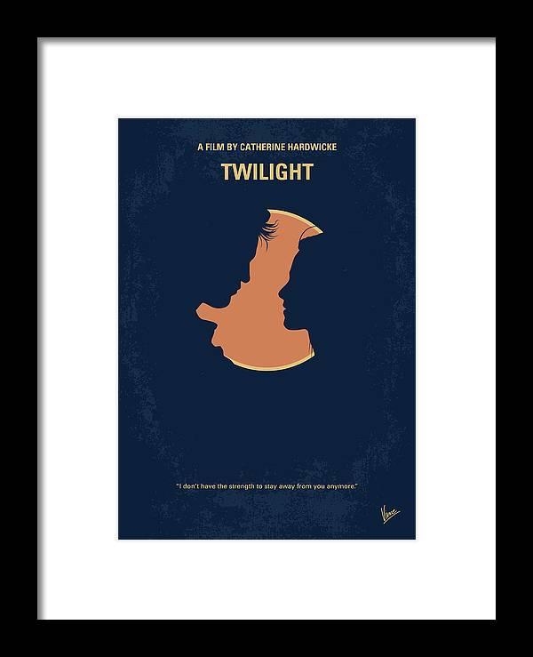 Bella Framed Print featuring the digital art No1080 My Twilight 1 Minimal Movie Poster by Chungkong Art