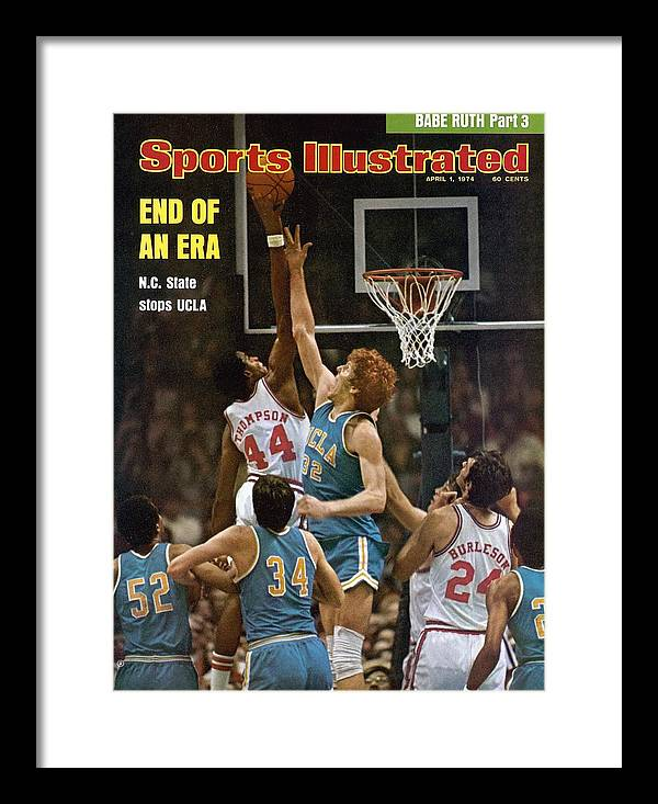 David Thompson Framed Print featuring the photograph North Carolina State David Thompson, 1974 Ncaa Semifinals Sports Illustrated Cover by Sports Illustrated