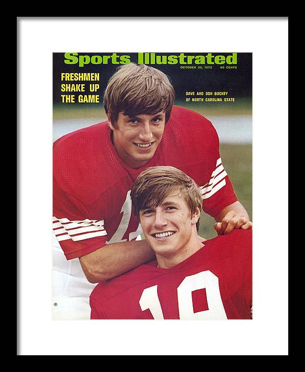Magazine Cover Framed Print featuring the photograph North Carolina State University Don And Dave Buckey Sports Illustrated Cover by Sports Illustrated