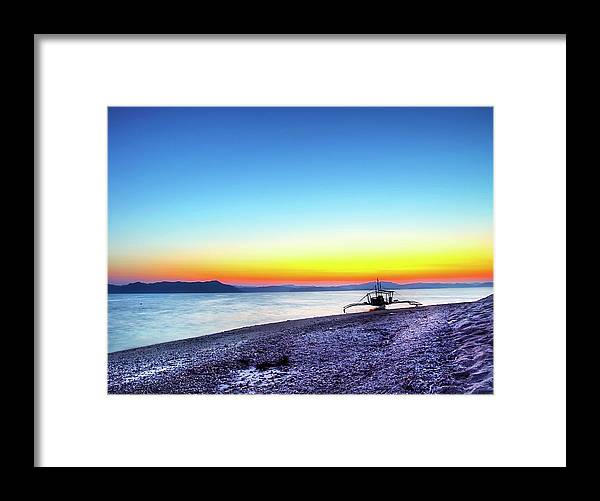Water's Edge Framed Print featuring the photograph North Cay Island, Palawan, Philippines by Tomasito!