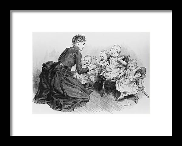Toddler Framed Print featuring the photograph Nspcc Care by Hulton Archive