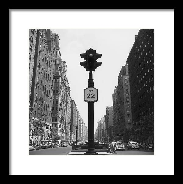 1950-1959 Framed Print featuring the photograph Ny Lights by Slim Aarons