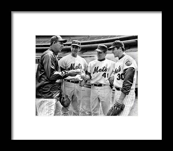 Sport Framed Print featuring the photograph N.y. Mets Manager Gil Hodges Sports A by New York Daily News Archive