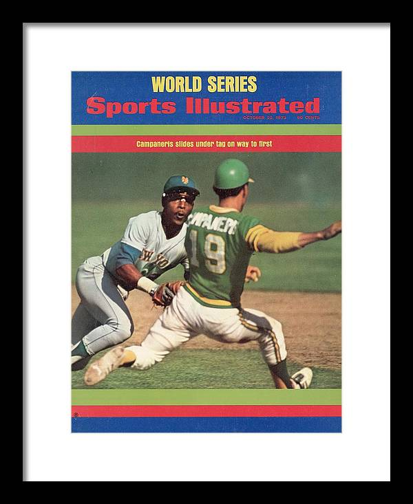 Magazine Cover Framed Print featuring the photograph Oakland Athletics Bert Campaneris, 1973 World Series Sports Illustrated Cover by Sports Illustrated