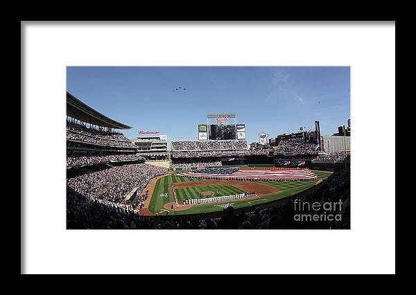American League Baseball Framed Print featuring the photograph Oakland Athletics V Minnesota Twins by Elsa