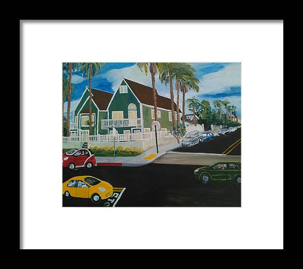 Painting Framed Print featuring the painting OB House by Andrew Johnson