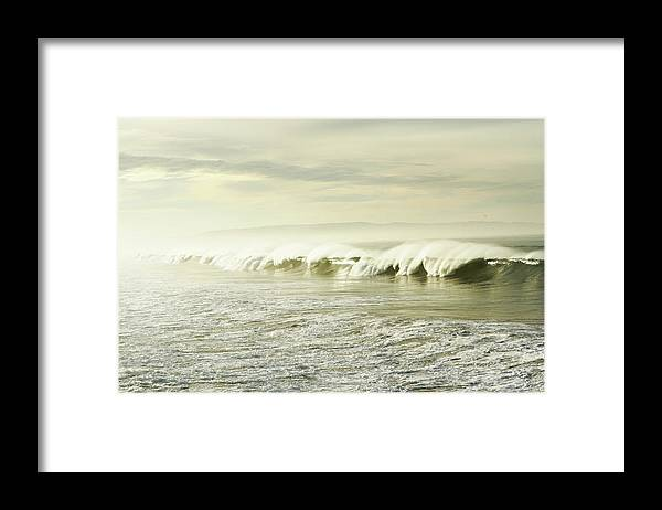 Pismo Beach Framed Print featuring the photograph Ocean At Sunrise by Kevinruss