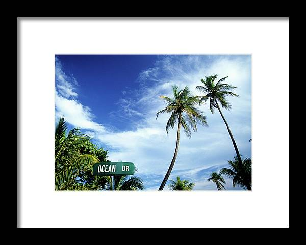 Outdoors Framed Print featuring the photograph Ocean Drive, South Beach, Miami by Hisham Ibrahim