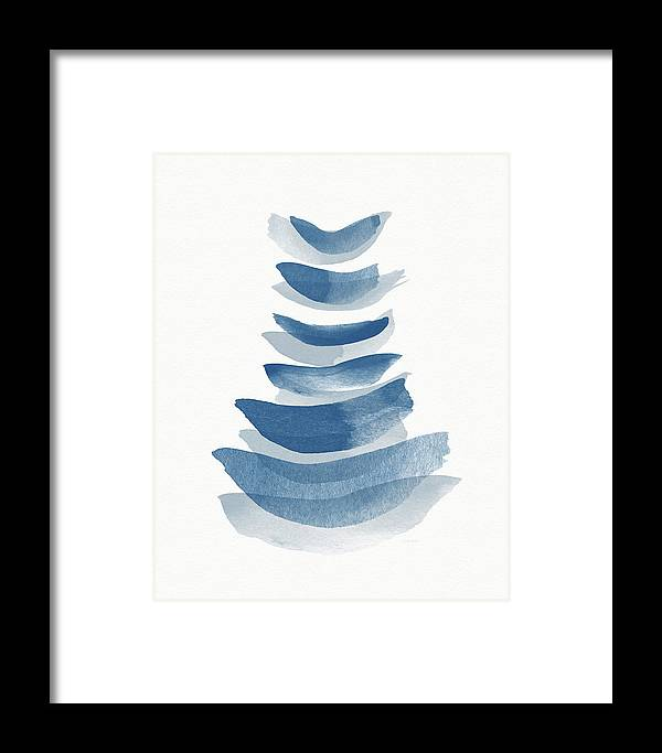 Abstract Framed Print featuring the mixed media Ocean Zen 2 - Art By Linda Woods by Linda Woods