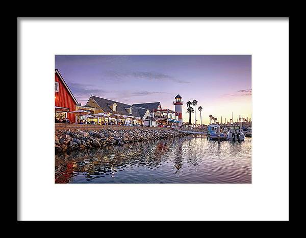 Oceanside Framed Print featuring the photograph Oceanside Harbor by Ann Patterson