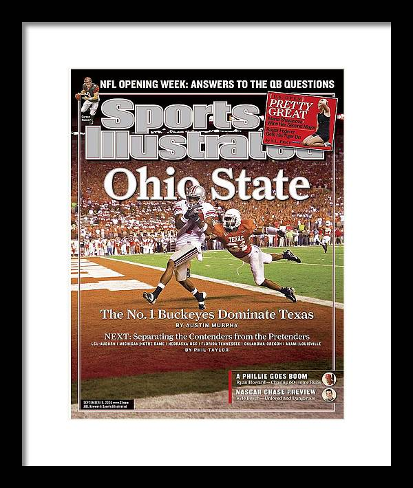 Magazine Cover Framed Print featuring the photograph Ohio State Ted Ginn Jr... Sports Illustrated Cover by Sports Illustrated